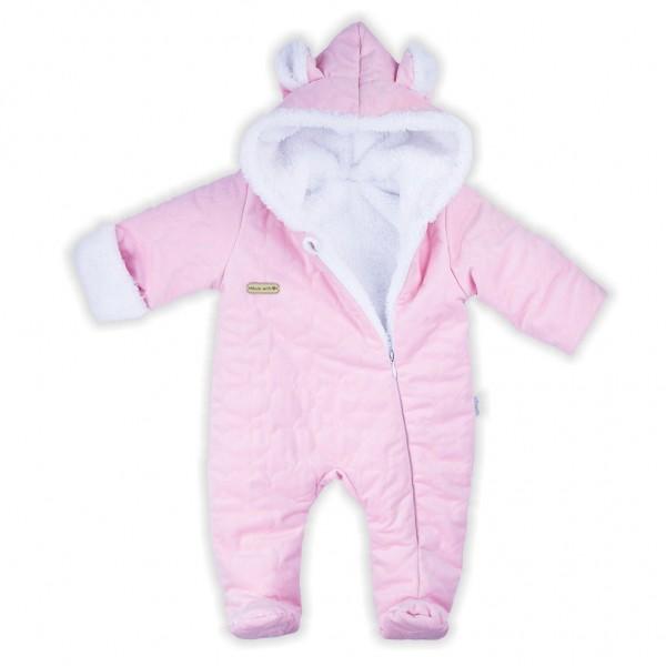 Zimní kojenecký overal Nicol Kids Winter růžový 62 (3-6m)