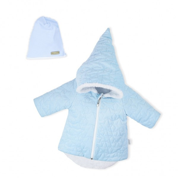 Zimní kojenecký kabátek s čepičkou Nicol Kids Winter modrý 62 (3-6m)
