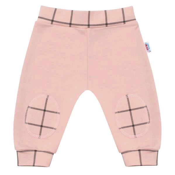 Kojenecké bavlněné tepláčky New Baby Cool růžové 68 (4-6m)