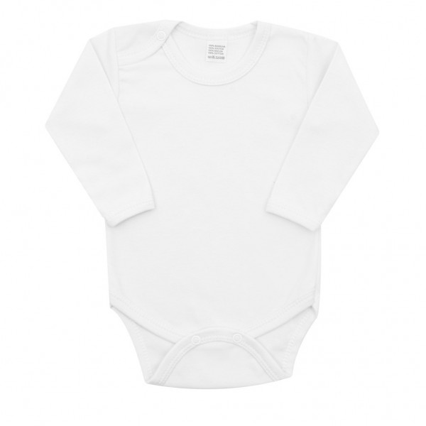 Luxusní body dlouhý rukáv New Baby - bílé 80 (9-12m)