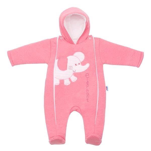 Zimní kombinézka New Baby Winter Elephant růžová 80 (9-12m)