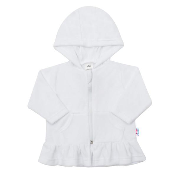 Semišková mikinka s kapucí New Baby Baby bílá 62 (3-6m)