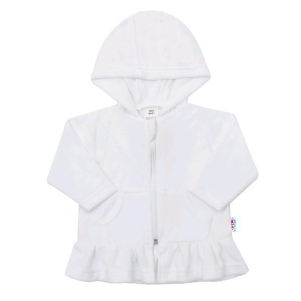 Semišková mikinka s kapucí New Baby Baby bílá 86 (12-18m)