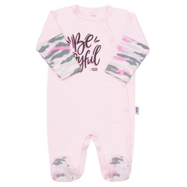 Kojenecký overal New Baby With Love růžový 62 (3-6m)