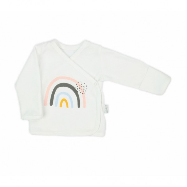 Kojenecká bavlněná košilka Nicol Rainbow 56 (0-3m)
