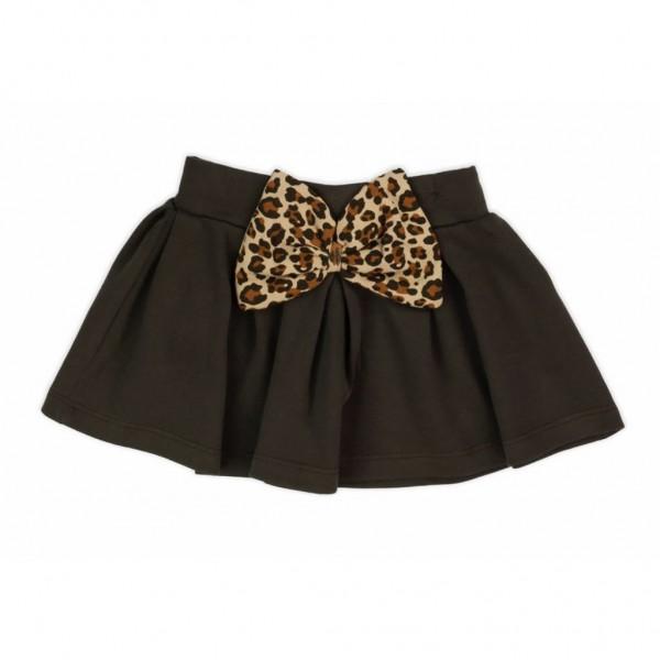 Kojenecká bavlněná suknička Nicol Mia tmavě hnědá 68 (4-6m)