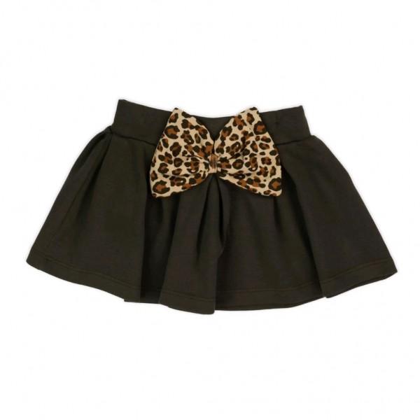Kojenecká bavlněná suknička Nicol Mia tmavě hnědá 80 (9-12m)