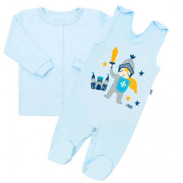 2-dílná kojenecká bavlněná soupravička New Baby Knight 80 (9-12m)