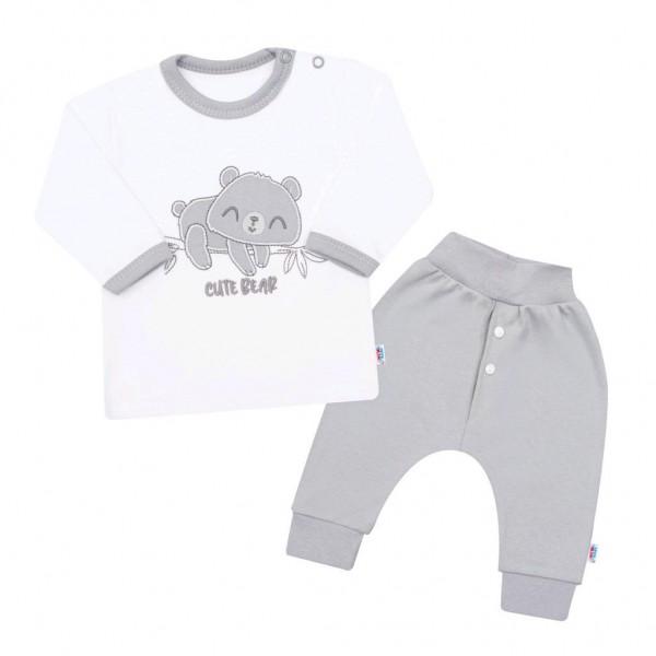 2-dílná kojenecká bavlněná soupravička New Baby Cute Bear 80 (9-12m)