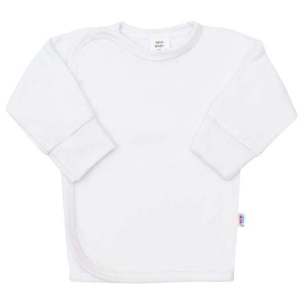 Kojenecká košilka s bočním zapínáním New Baby bílá 50