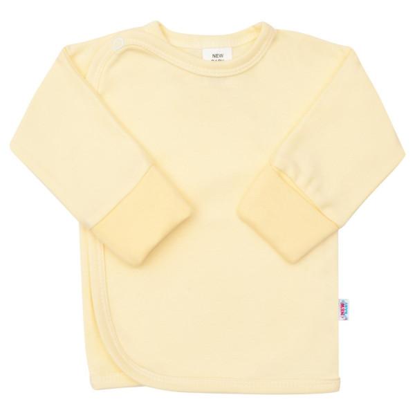 Kojenecká košilka s bočním zapínáním New Baby žlutá 50