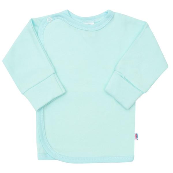 Kojenecká košilka s bočním zapínáním New Baby tyrkysová 50