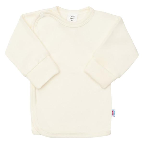 Kojenecká košilka s bočním zapínáním New Baby béžová 56 (0-3m)