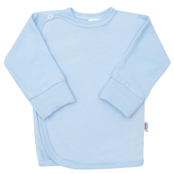 Kojenecká košilka s bočním zapínáním New Baby světle modrá 50