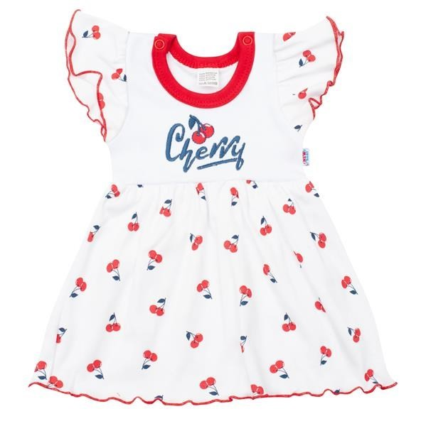 Kojenecké bavlněné šatičky New Baby Cherry 56 (0-3m)