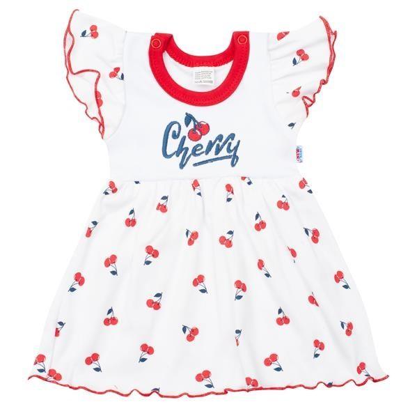 Kojenecké bavlněné šatičky New Baby Cherry 80 (9-12m)
