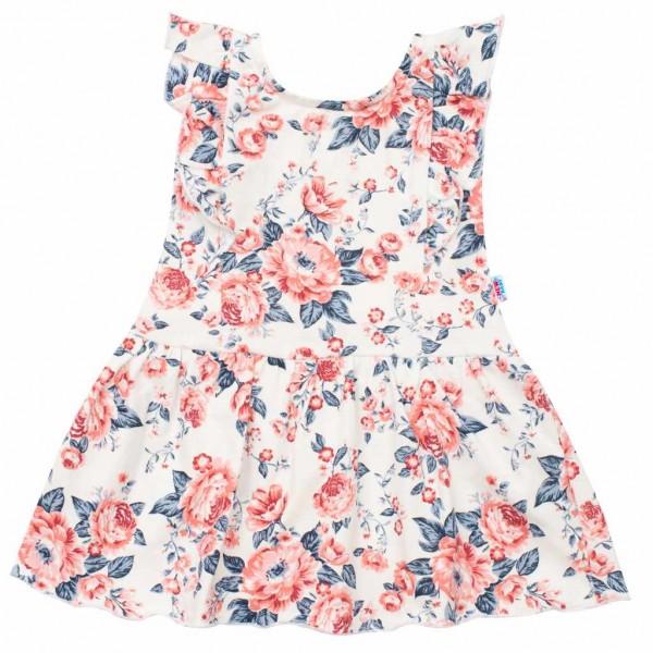 Kojenecké letní bavlněné šatičky New Baby Roses smetanovo-růžové 68 (4-6m)