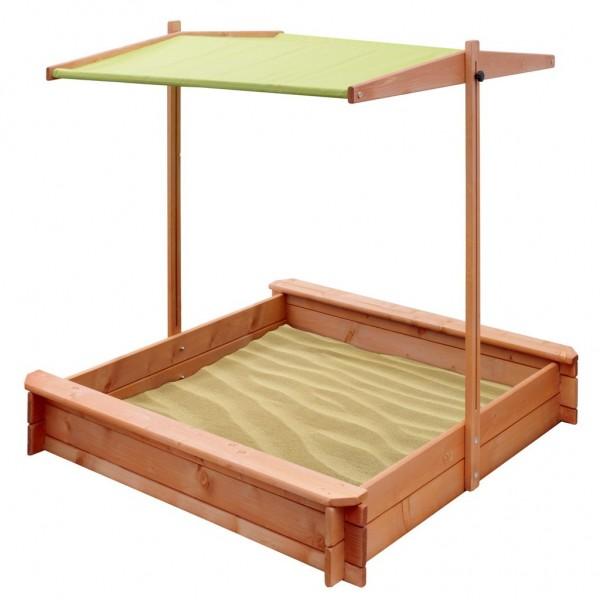 Dětské dřevěné pískoviště se stříškou NEW BABY 120x120 cm zelené