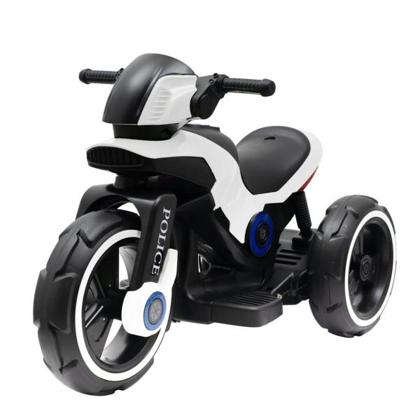 Dětská elektrická motorka Baby Mix POLICE bílá