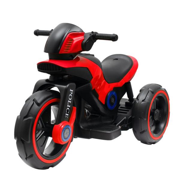 Dětská elektrická motorka Baby Mix POLICE červená