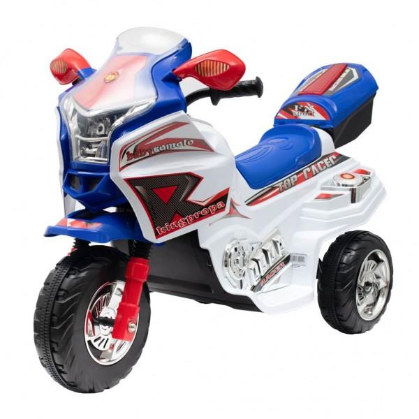 Dětská elektrická motorka Baby Mix RACER bílá
