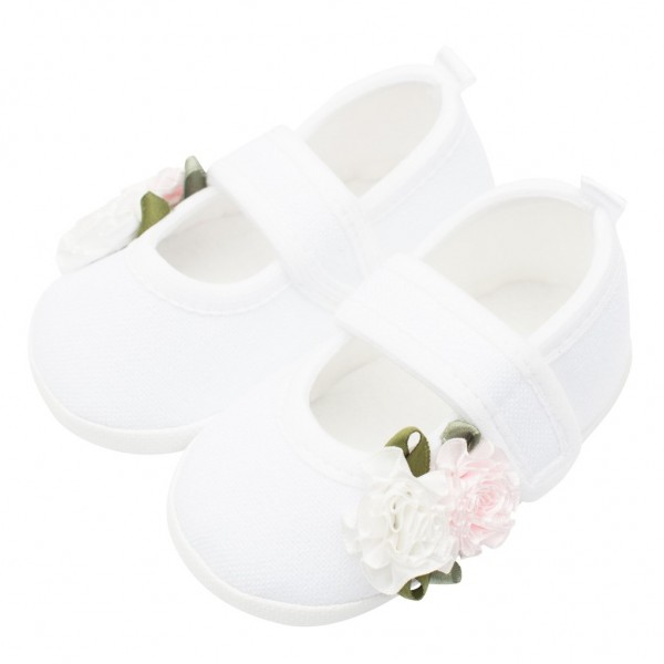 Kojenecké capáčky New Baby Linen bílé 3-6 m roses 3-6 m