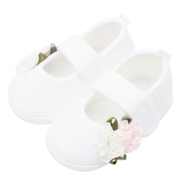 Kojenecké capáčky New Baby Linen bílé 6-12 m roses 6-12 m