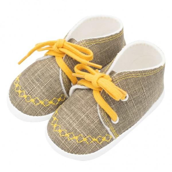 Kojenecké capáčky tenisky New Baby jeans mustard 6-12 m 6-12 m