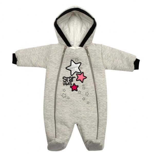 Zimní kojenecká kombinéza s kapucí Koala Star Vibes růžová 56 (0-3m)
