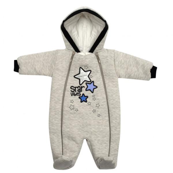 Zimní kojenecká kombinéza s kapucí Koala Star Vibes modrá 56 (0-3m)