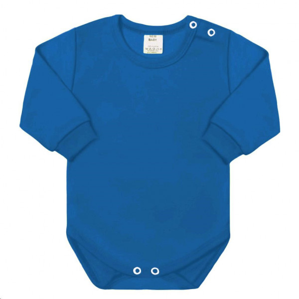 Kojenecké body s dlouhým rukávem New Baby modré 50
